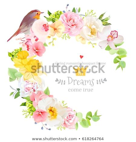 Amarelo rosa flor coroa flores natureza Foto stock © shawlinmohd