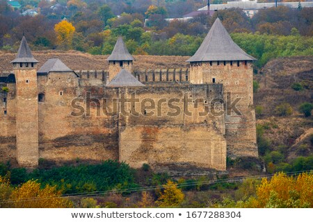 Khotyn Fortress panoramic view in autumn Stock photo © Arsgera