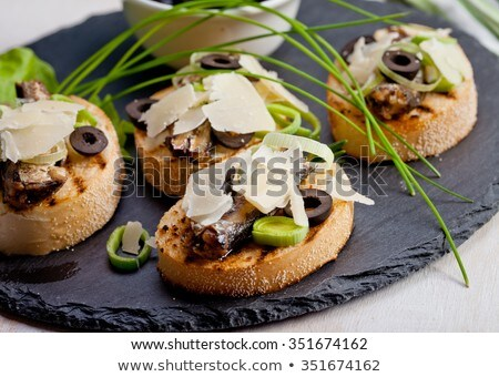 spanish sardines on toast Stock photo © zkruger