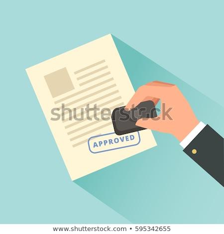 Strony dokumentu zatwierdzenie prawnych Zdjęcia stock © AndreyPopov