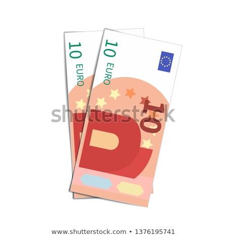 Paar eenvoudige tien euro bankbiljetten witte Stockfoto © evgeny89