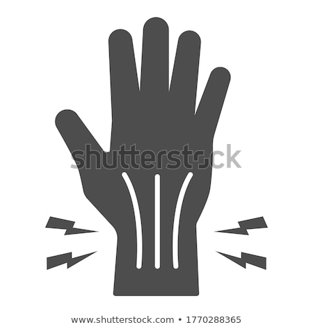 arthritis of wrist icon vector outline illustration Stock photo © pikepicture