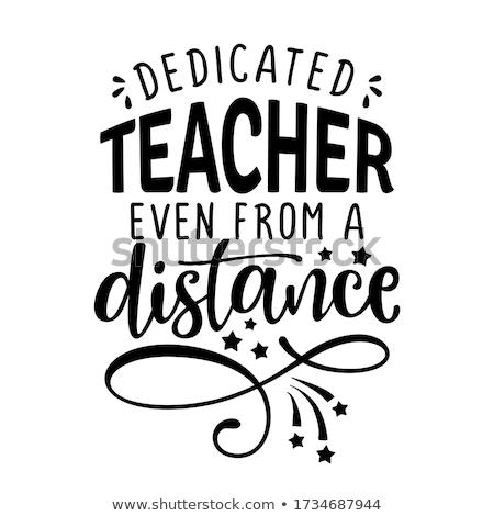 dedicated teacher even from a distance  Stock photo © Zsuskaa