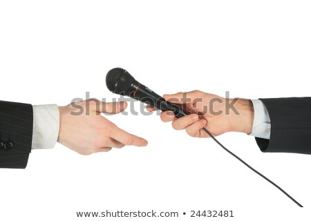 Hand takes microphone from another Stock photo © Paha_L