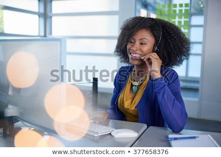 africano · feminino · operador · negócio · escritório - foto stock © photography33