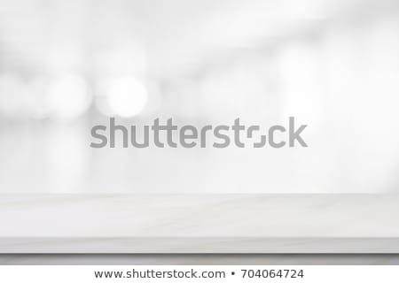 Blank White Desk Display on the White Background Stock photo © maxpro