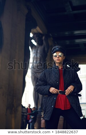 Sculpture stands in street Stock photo © zzve