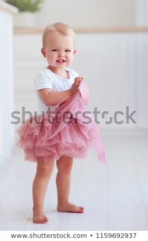 赤ちゃん ピンク スカート 弓 孤立した 白 ストックフォト © RuslanOmega