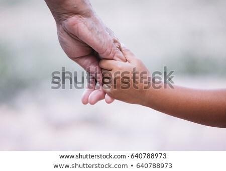 moeder · hand · familie · man · handdruk - stockfoto © taden