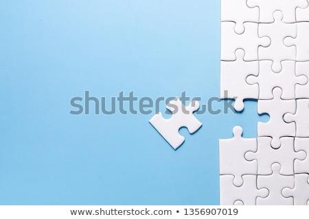 Hiányzó darab 3d render kirakós játék absztrakt háttér Stock fotó © ajn
