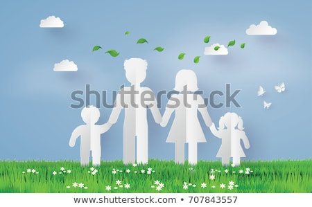 cutout paper family stock photo © oly5