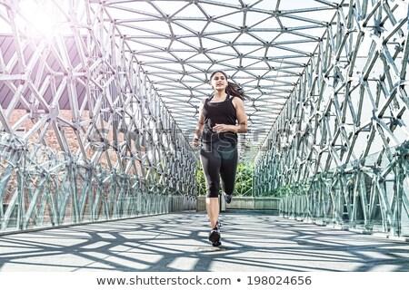 abstract · bella · donna · esecuzione · moderno · metal · ponte - foto d'archivio © geribody