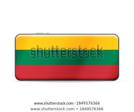 Smartphone vlag Litouwen telefoon telefoon teken Stockfoto © vepar5