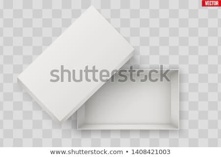 Open · schoen · vak · lege · karton · witte - stockfoto © dezign56
