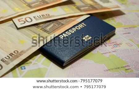 Passaporte dinheiro viajar numerário férias Foto stock © nessokv