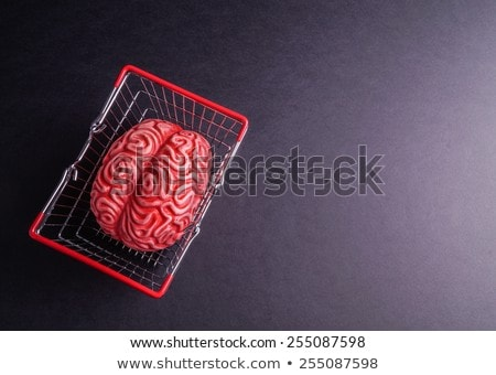 Denk doei hersenen geïsoleerd zwarte business Stockfoto © Klinker