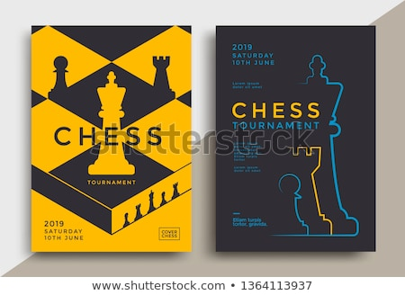 Szachy turniej ilustracja mężczyzn sylwetka biały Zdjęcia stock © adrenalina