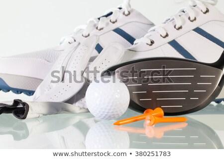 Golf driver on a glass desk Stock photo © CaptureLight