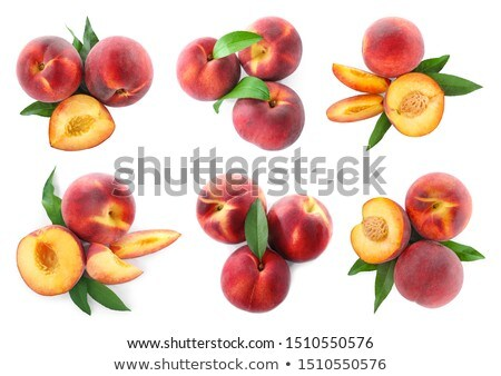 Foto stock: Fresco · maduro · pêssegos · rua · mercado