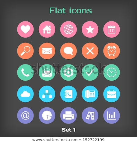 round icons with phone calendar stock photo © bluering