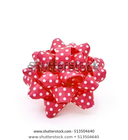 red gift puff bows patterned with white dots Stock photo © nito