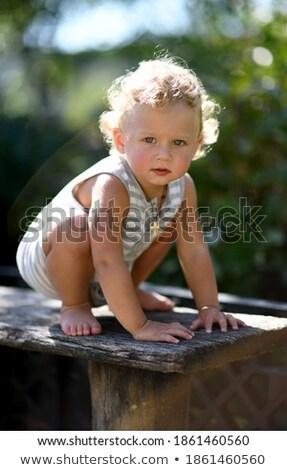 family baby outdoor summer care stock photo © vilevi