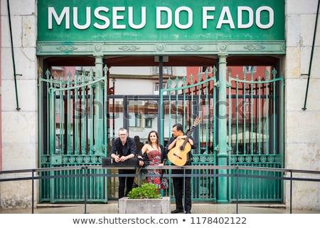 Múzeum Lisszabon gyönyörű kilátás Portugália kék ég Stock fotó © luissantos84