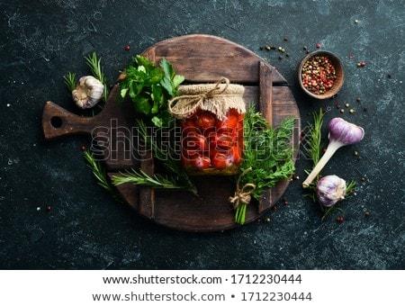 Stock photo: Marinated tomatoes