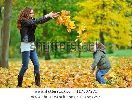 母親 · 子 · 一緒に · 草原 · 演奏 - ストックフォト © julenochek