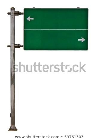 ストックフォト: 女性 · 道路 · 交通標識 · 背景 · 悲しい