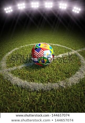 İspanya futbol futbol top stadyum 3D Stok fotoğraf © Wetzkaz