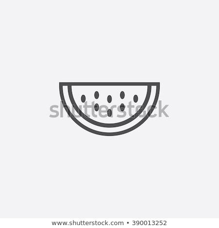 ícone melancia comida natureza projeto verão Foto stock © makyzz