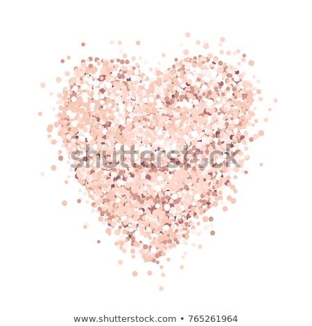 Valentijn schitteren harten vakantie Rood goud Stockfoto © alexaldo