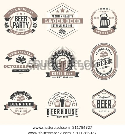 Color vintage beer brewery emblem Foto stock © netkov1