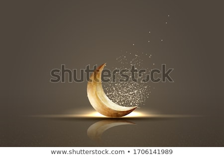 ramadan kareem golden moon islamic banner Сток-фото © SArts