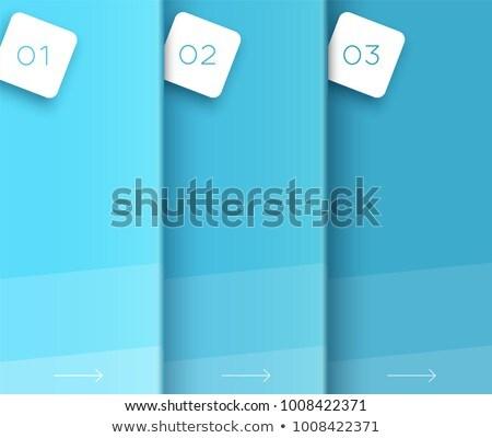 вертикальный падение тень числа три 3D Сток-фото © djmilic