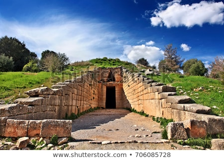 археологический · Греция · руин · дерево · строительство - Сток-фото © borisb17