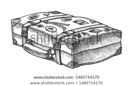 Realeza viaje pegatinas tinta vector Foto stock © pikepicture