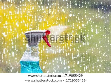 стекла подвесной Веревки воды здании Сток-фото © jossdiim