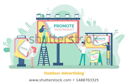 Promote Product, Billboard and Ad, Poster Vector Stock photo © robuart