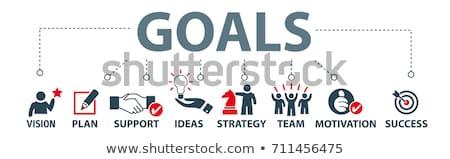 Goals and objectives concept banner header. Stock photo © RAStudio