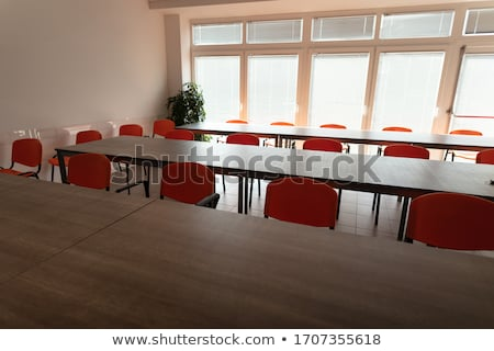 Empty desks and chairs in high key cafeteria room Stock photo © Giulio_Fornasar