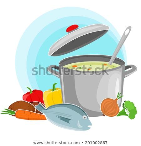 fish soup composition Stock photo © olira