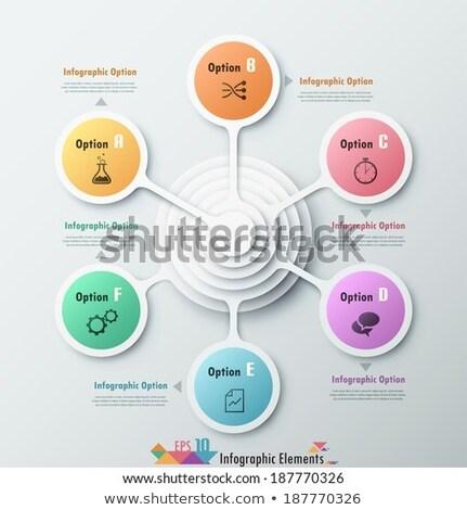 шаблон опции дизайна красивой цветами Сток-фото © ukasz_hampel