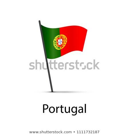 Португалия флаг полюс элемент белый Сток-фото © evgeny89