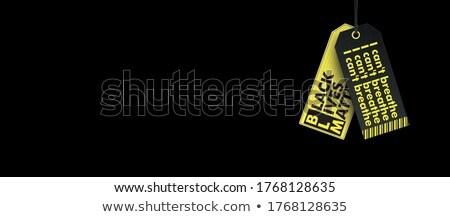 Kettő ár matricák fekete fejléc hosszú Stock fotó © limbi007