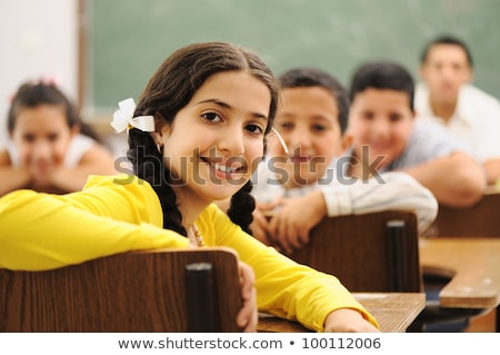 A portrait of a caucasian race school student at classroom stock photo © HASLOO