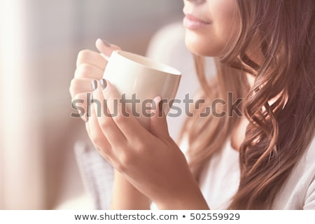 young woman morning cofee Stock photo © clearviewstock