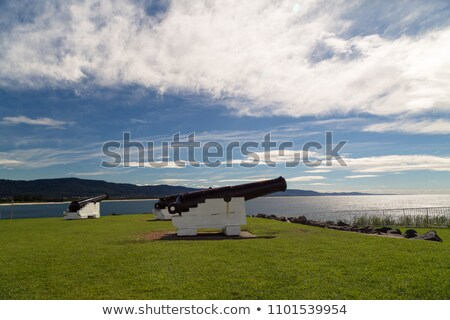 ocean sunrise and cannons at wollongong Stock photo © clearviewstock
