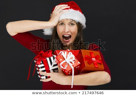 Brunette woman with a slate Stock photo © photography33